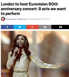 Eurovision Song Contest Metro Benny Royston