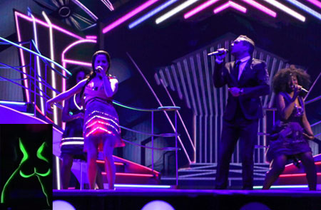 Electro Velvet United Kingdom Eurovision Song Contest Costume Malfunction
